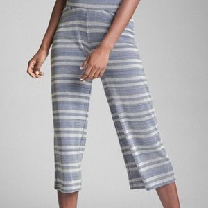 GAP Ribbed Stripe Crop Wide-Leg Pant